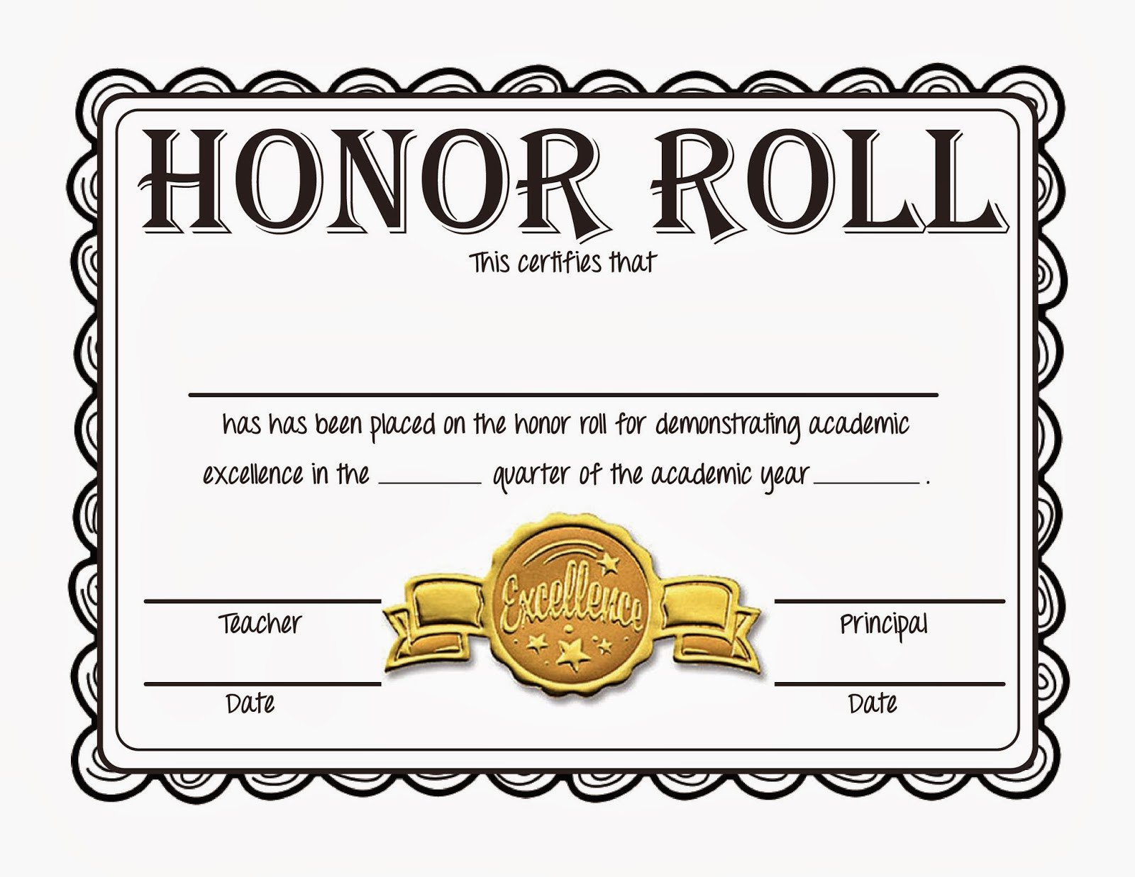 Honor Roll Certificate Template Steve S Classroom New Freebie Honor Roll Certificates
