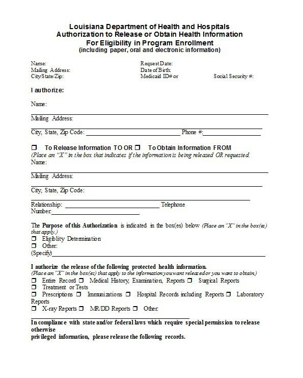 Hospital Release form Template 30 Medical Release form Templates Template Lab