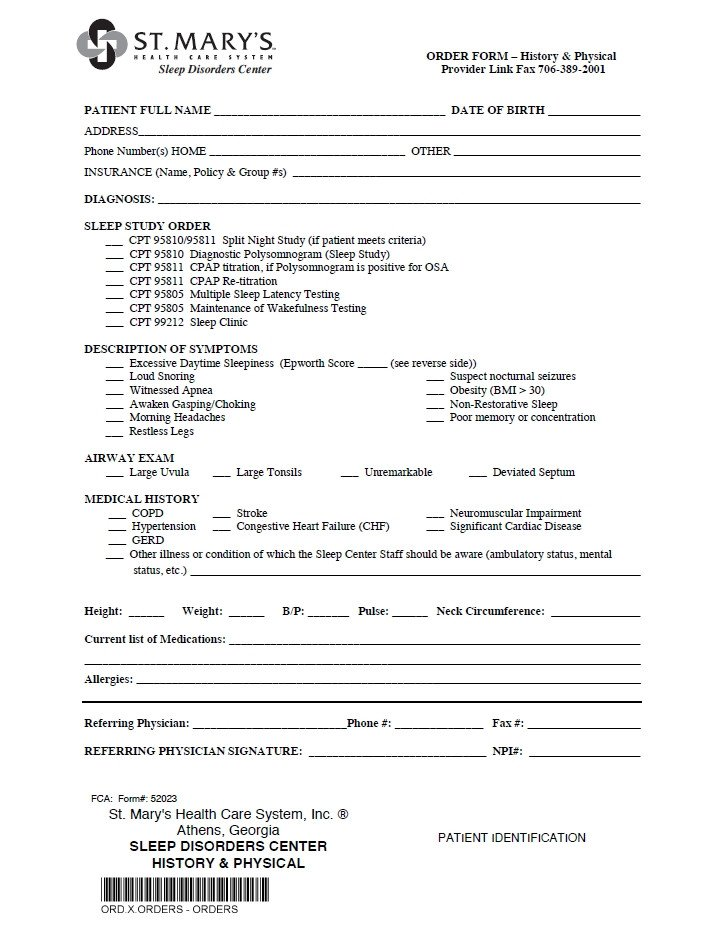 Hospital Release form Template Referral forms St Mary S Hospital and Health Care System
