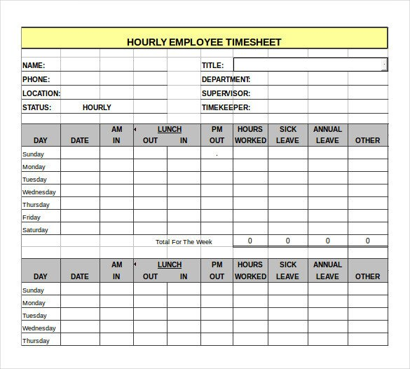 Hourly Chart Template Sample Hourly Timesheet Calculator 6 Documents In Pdf