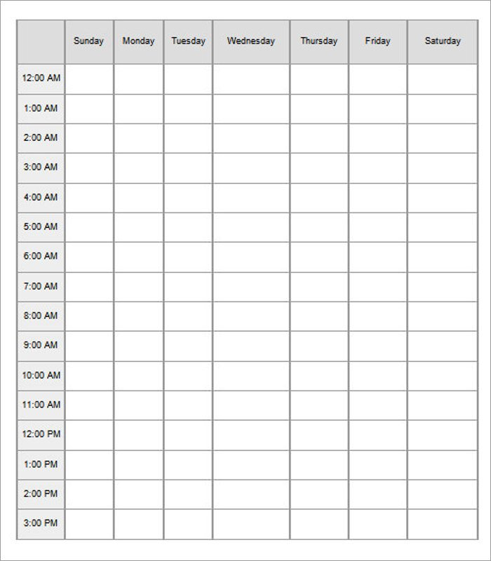 Hourly Schedule Template Excel 47 Hourly Schedule Templates Free Excel Word Doc Pdf