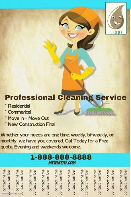 House Cleaning Flyers Templates Free Create Amazing Flyers for Your Cleaning Business by
