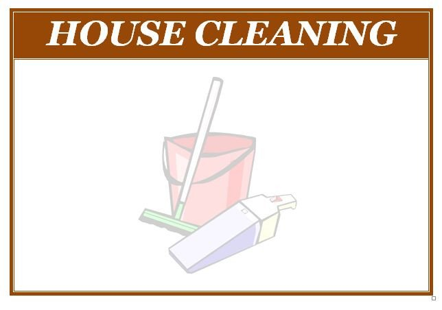 House Cleaning Flyers Templates Free Free Templates for House Cleaning