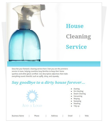 House Cleaning Flyers Templates Free House Cleaning Free Samples House Cleaning Flyers