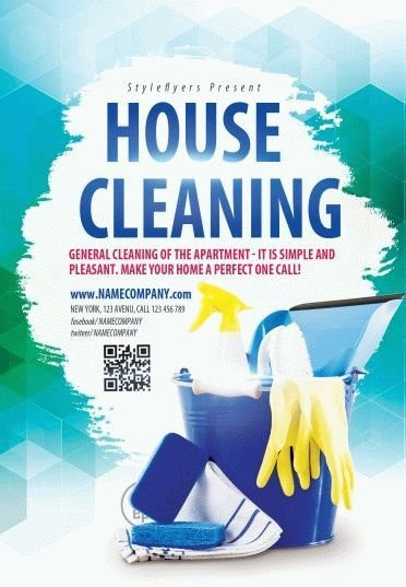 House Cleaning Flyers Templates Free House Cleaning Psd Flyer Template 9579 Styleflyers