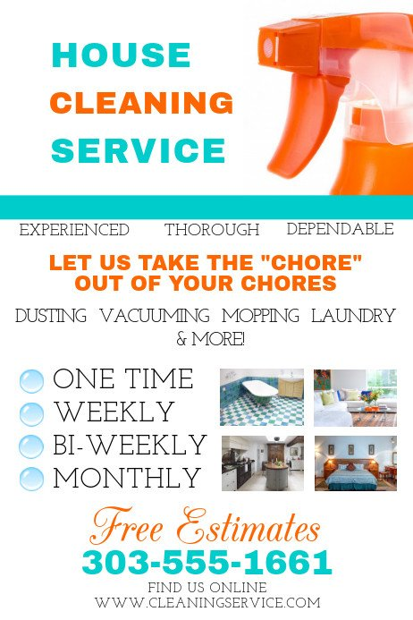House Cleaning Flyers Templates Free House Cleaning Service Template