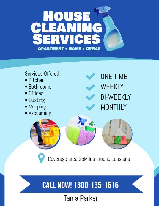 House Cleaning Flyers Templates Free House Cleaning Services Flyer Poster Template