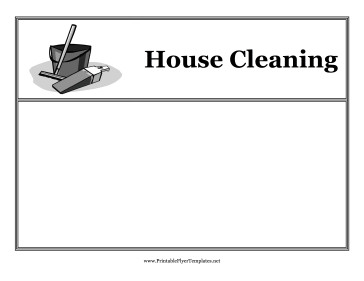 House Cleaning Flyers Templates Free Maid Service Free Maid Service Flyer Template