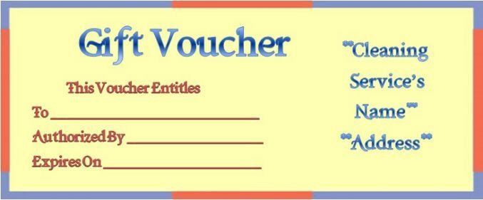 House Cleaning Gift Certificate Template Cleaning Gift Certificate Template Gift Ftempo