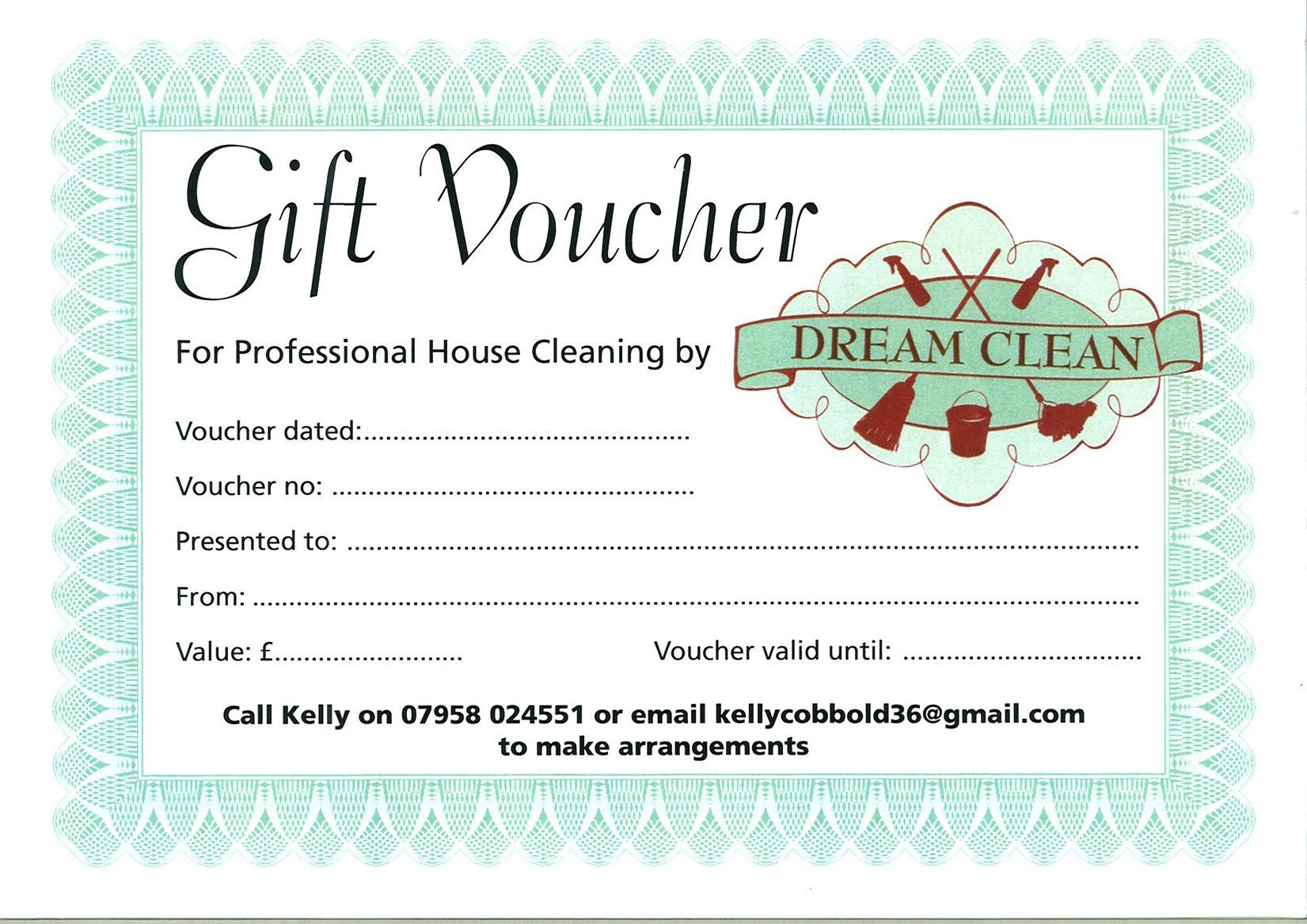House Cleaning Gift Certificate Template Gift Certificate House Cleaning