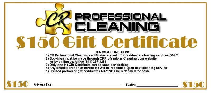 House Cleaning Gift Certificate Template Gift Certificates