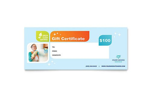 House Cleaning Gift Certificate Template House Cleaning Service Gift Certificate Templates Word