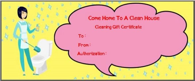 House Cleaning Gift Certificate Template Molly Maid Gift Cards