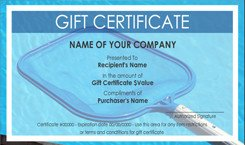 House Cleaning Gift Certificate Template Pool and Spa Cleaning Gift Certificate Templates