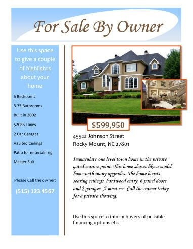 House for Sale Flyer 14 Free Flyers for Real Estate [sell Rent]
