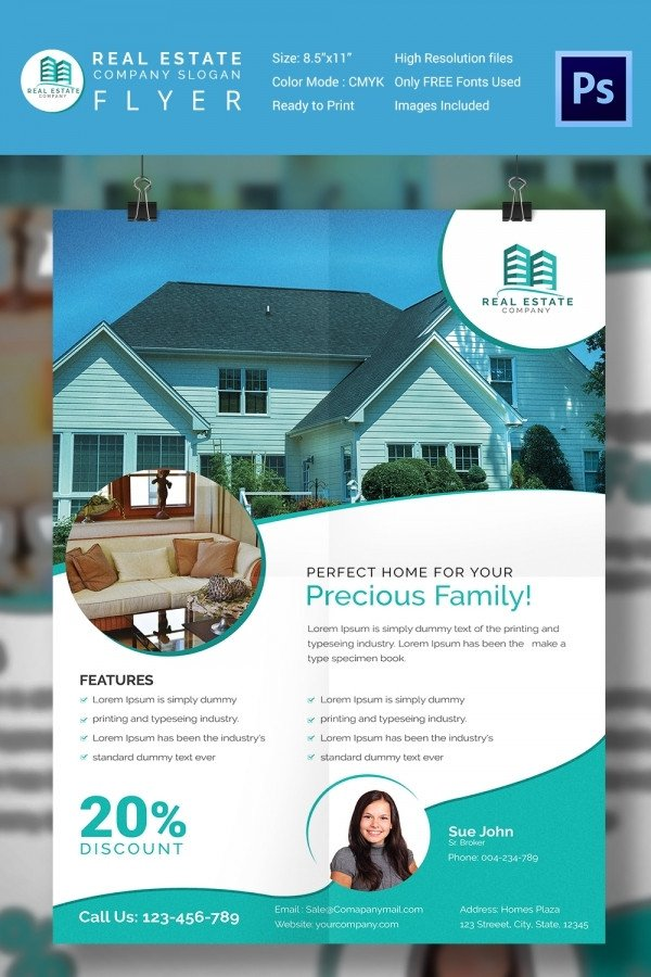 House for Sale Flyer 15 Stylish House for Sale Flyer Templates & Designs