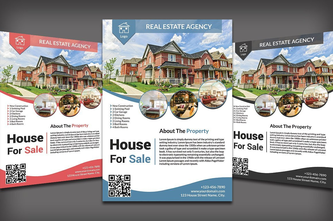 House for Sale Flyer 20 Real Estate Flyers Word Psd Ai Eps Vector formats