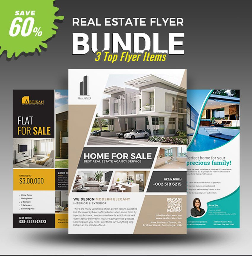 House for Sale Flyer 40 Professional Real Estate Flyer Templates