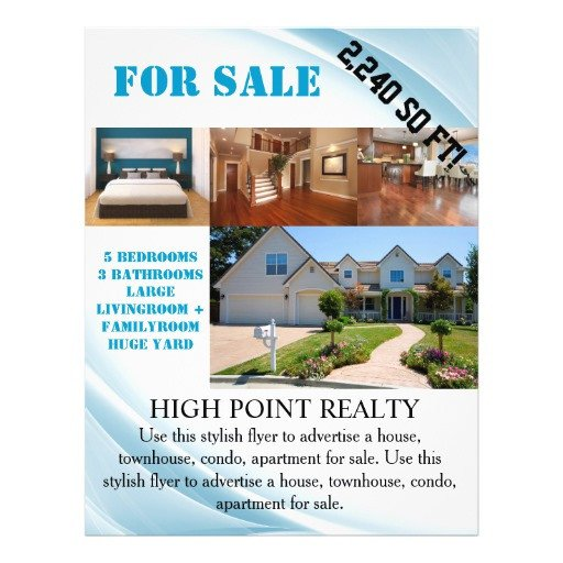House for Sale Flyer Modern Real Estate Realtor for Sale Flyer