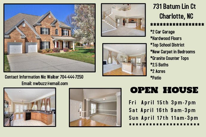House for Sale Flyer Open House for Sale Template