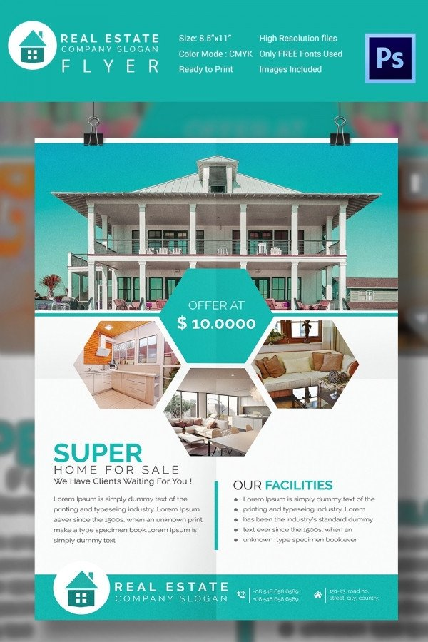 House for Sale Flyer Template 15 Stylish House for Sale Flyer Templates & Designs