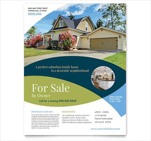 House for Sale Flyer Template 40 Real Estate Flyer Templates Ai Word Psd Eps