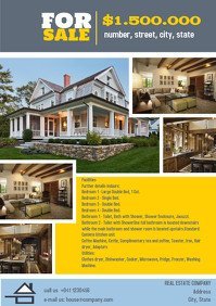 House for Sale Flyer Template Customize 1 760 Real Estate Flyer Templates