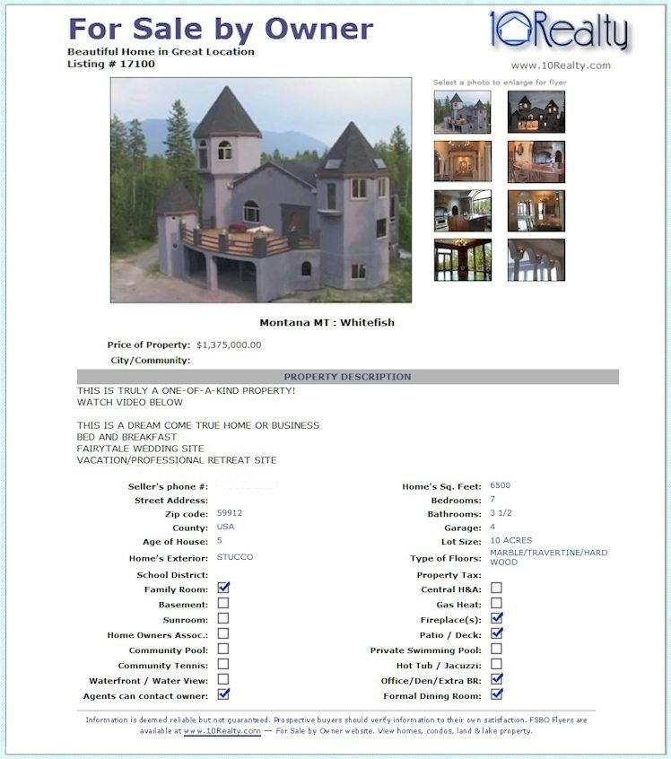 House for Sale Flyer Template Free Fsbo Listing Free for Sale by Owner Website