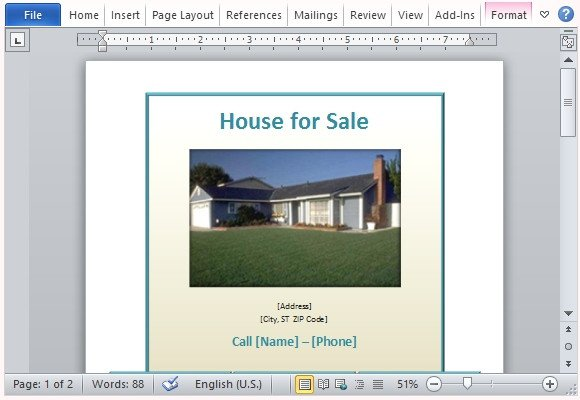 House for Sale Flyer Template House for Sale Flyer Template for Word