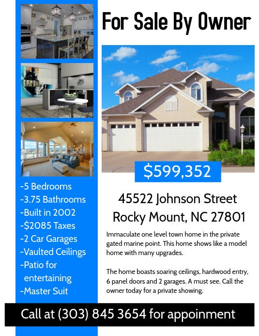 House for Sale Flyer Template Real Estate Flyer Template
