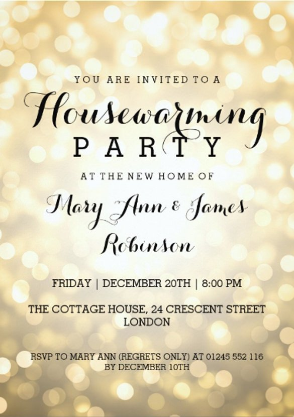 House Warming Party Invitation Template 23 Housewarming Invitation Templates Psd Ai
