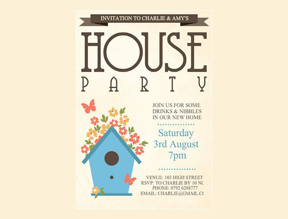 House Warming Party Invitation Template 35 Housewarming Invitation Templates Psd Vector Eps