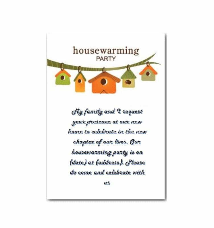 House Warming Party Invitation Template 40 Free Printable Housewarming Party Invitation Templates