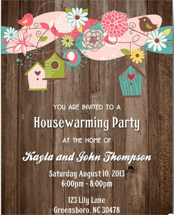 House Warming Party Invitation Template 8 Housewarming Invitation Templates Free Download