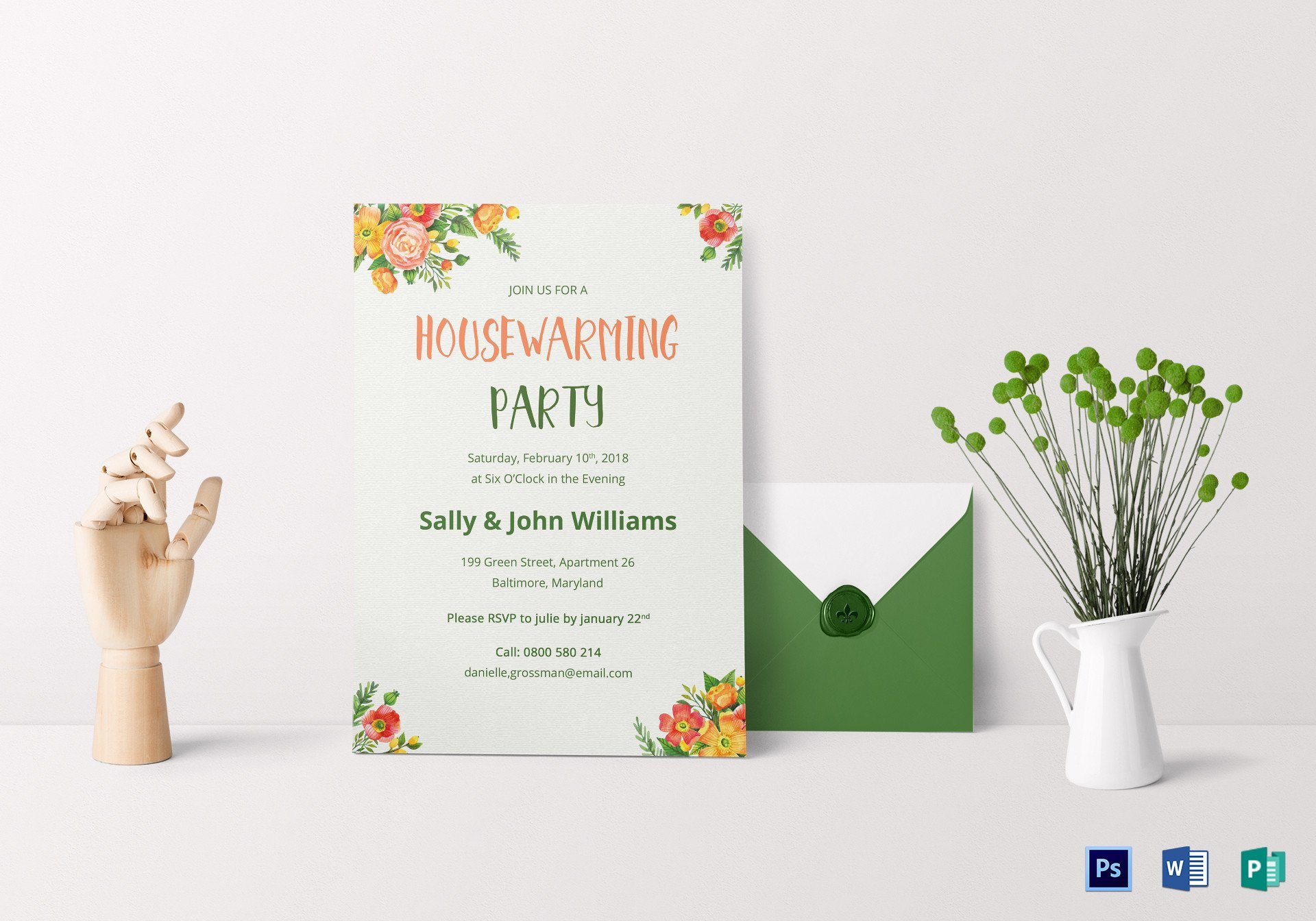 Housewarming Invitation Template Microsoft Word Colorful Housewarming Invitation Design Template In Psd