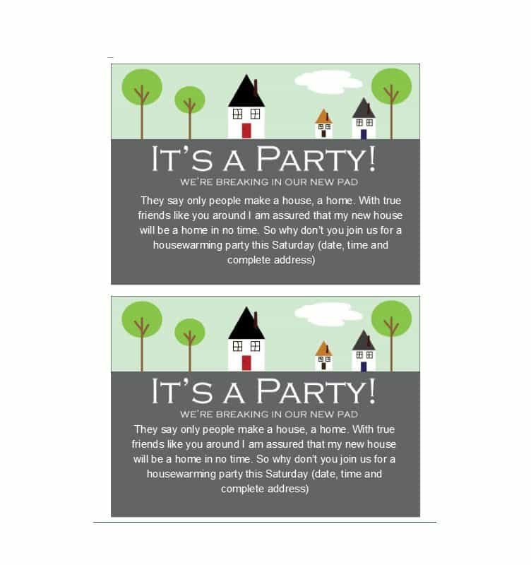 Housewarming Party Invitations Templates 40 Free Printable Housewarming Party Invitation Templates