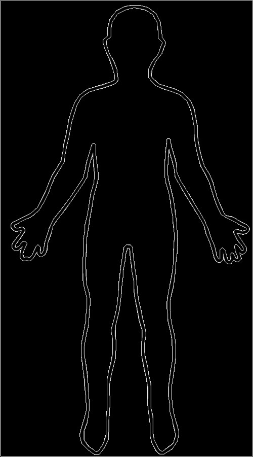 Human Body Outline Drawing Body Outline Diagram Clipart Best