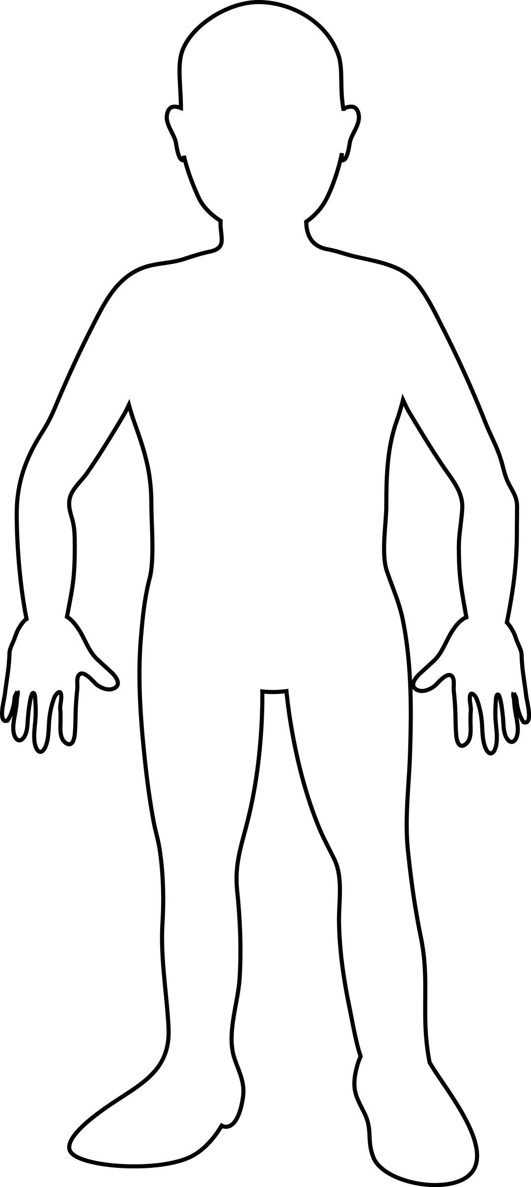Human Body Outline Drawing Body Template for Kids Clipart Best