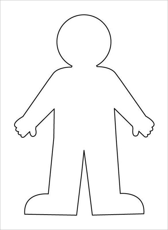 Human Body Outline Printable 23 Human Body Templates Doc Pdf Ppt