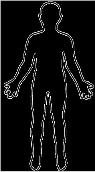 Human Body Outline Printable File Outline Body