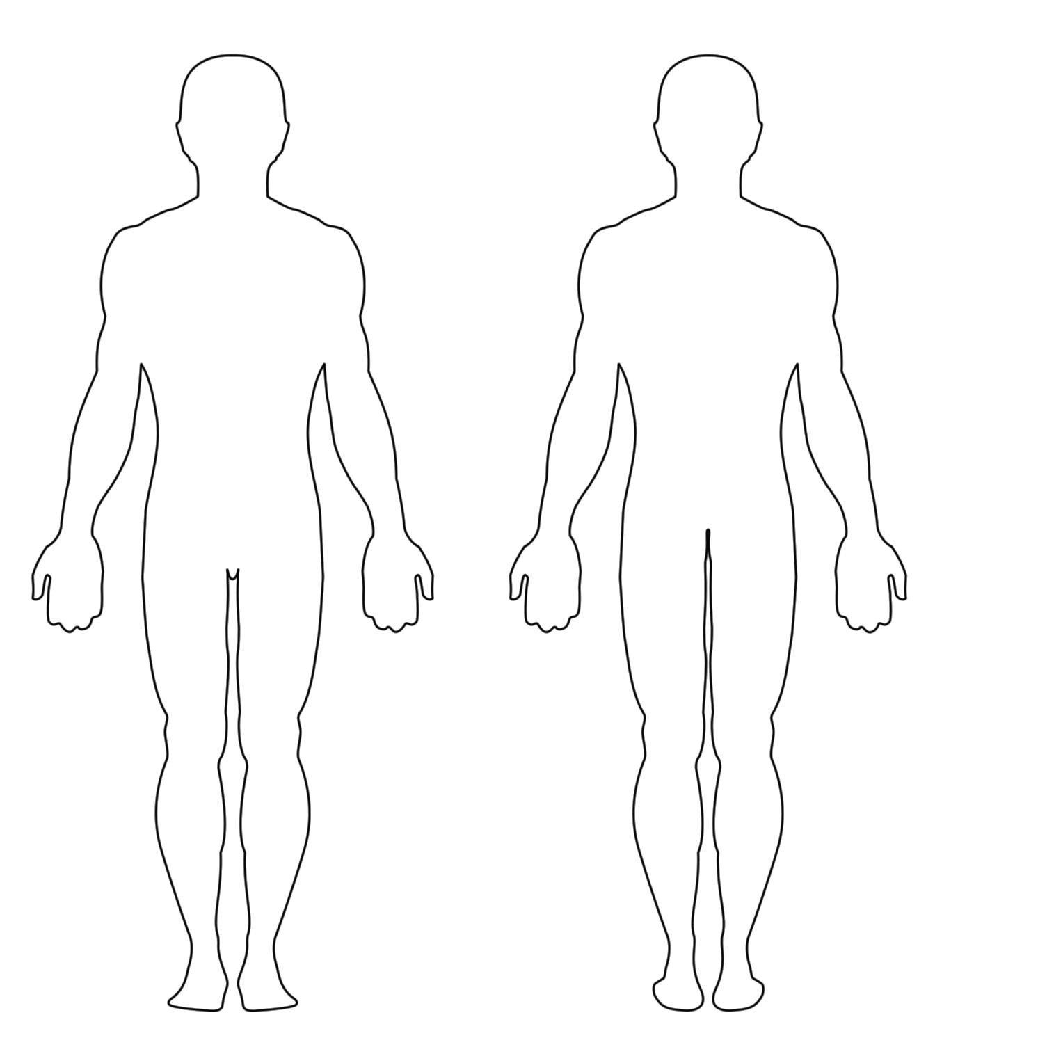 Human Body Outline Printable Free Human Body Outline Printable Download Free Clip Art