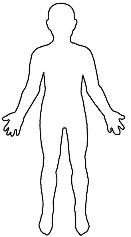 Human Body Outline Printable Human Body Outline for Kids