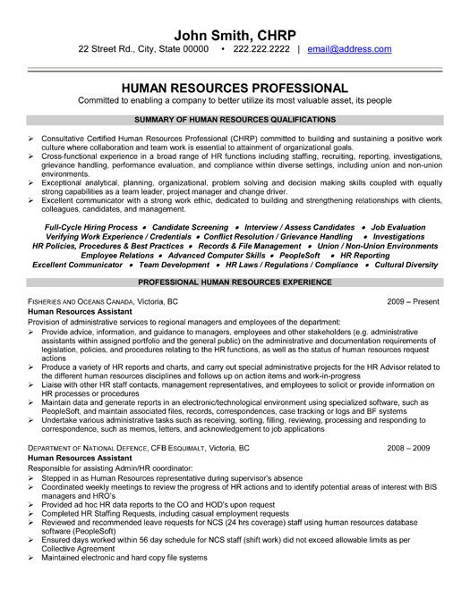 Human Resources Resume Template top Human Resources Resume Templates & Samples