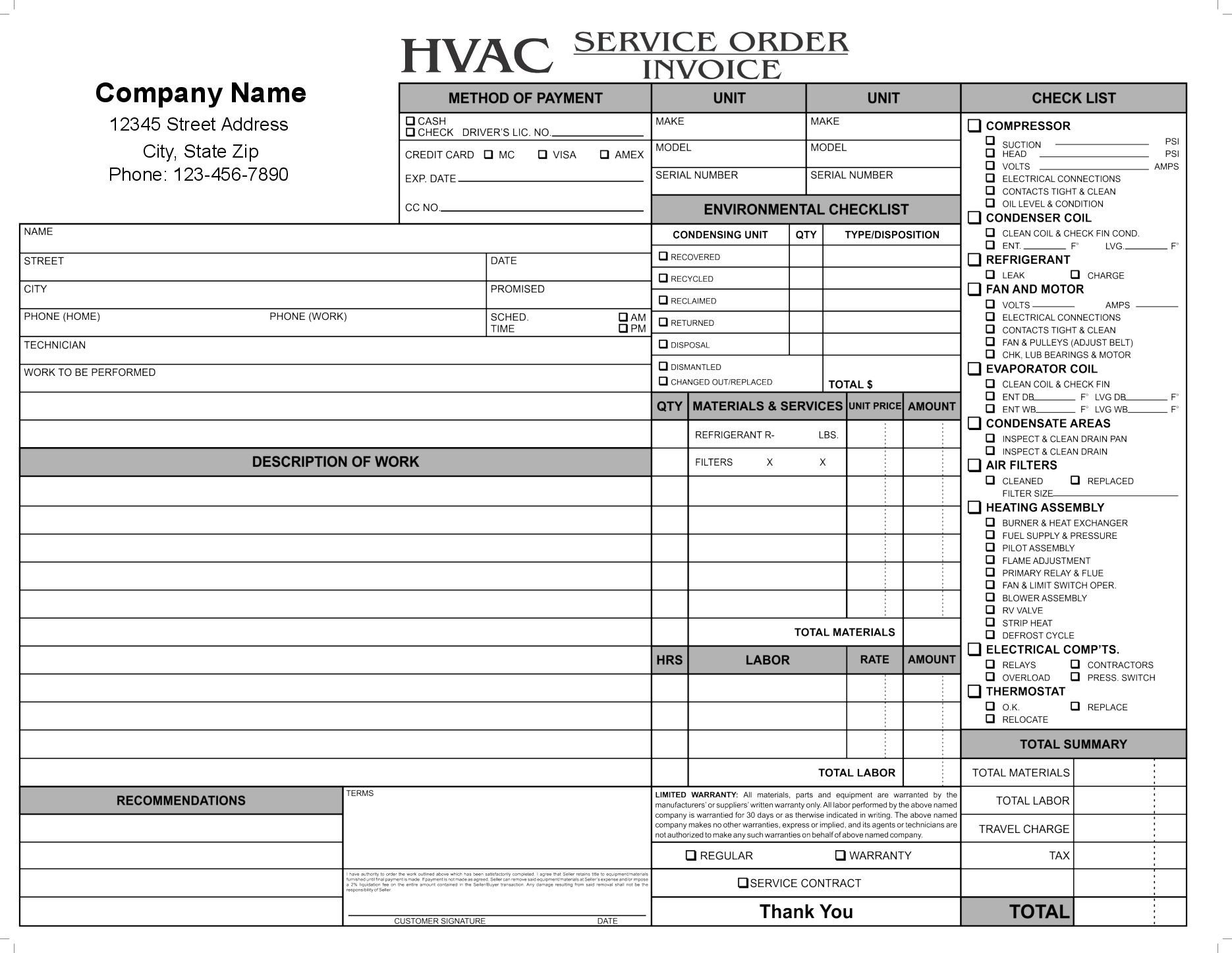 Hvac Inspection Report Template 11 Hvac Invoice Template Free top Invoice Templates Hvac