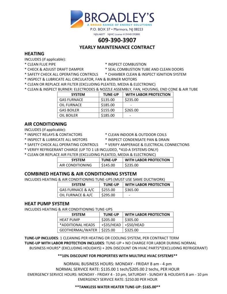 Hvac Maintenance Contract Template 8 Hvac Contract Templates for Services Pdf Word