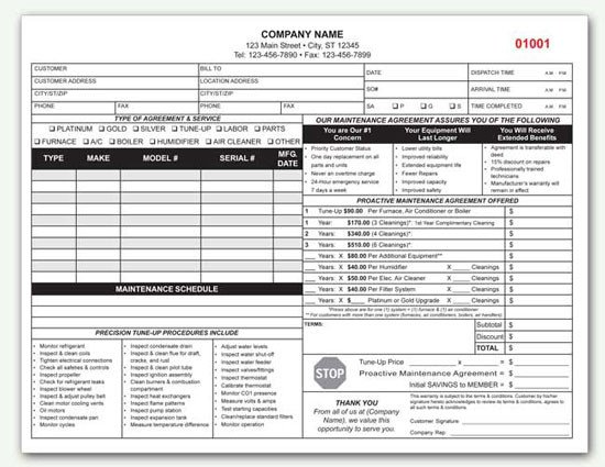 Hvac Maintenance Contract Template Hvac Contract Custom Hvac Contract form
