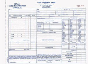 Hvac Work order Template Hvac Work orders