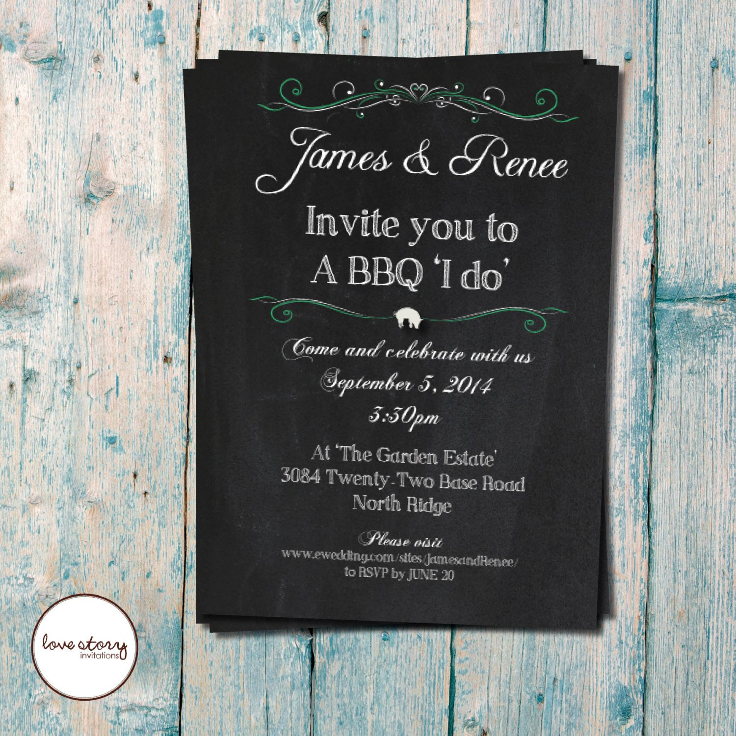 I Do Bbq Invitations Bbq I Do Wedding Invitation Casual by