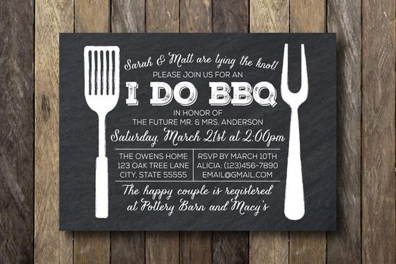 I Do Bbq Invitations I Do Barbecue Invitation Engagement Party by thelionandthelark