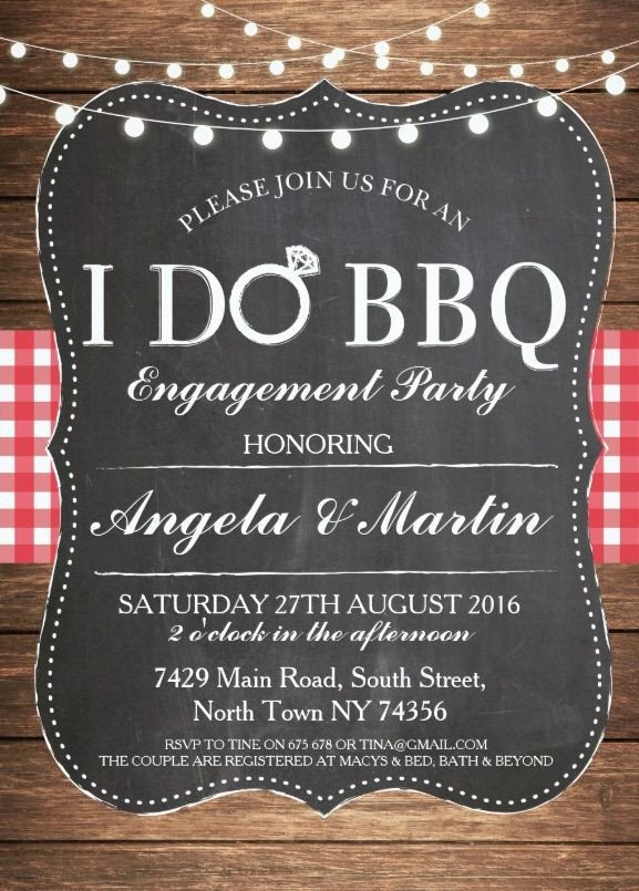 I Do Bbq Invitations I Do Bbq Engagement Party Invitation Personalize now